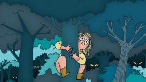 """BD """"Peurs Bleues"""" de l'illustratrice Mathou"""